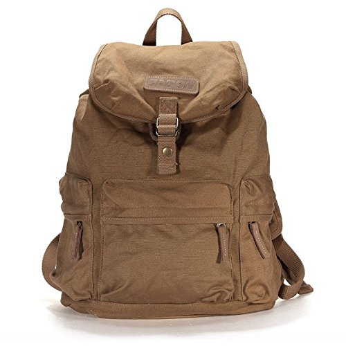 Canvas DSLR Camera Case Bag Backpack Travel Hiking Rucksack ()
