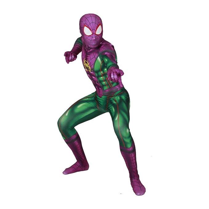 ZUOZHE Adultos Niño Disfraz De Spiderman Homecoming Fiesta ...
