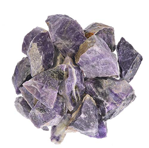 Digging Dolls: 1 lb of Purple Aventurine Rough Stones from Mexico - Raw Rocks Perfect for Lapidary, Tumbling, Polishing and Crafts!