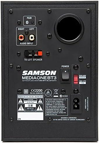 Samson MediaOne BT4 Multimedia Lautsprecher mit BlueTooth Empf/änger