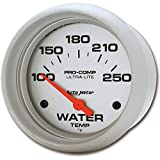 "Auto Meter 4437 Ultra-Lite 2-5/8"" 100-250 F Short Sweep Electric Water Temperature Gauge"