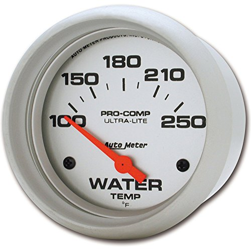 Auto Meter 4437 Ultra-Lite Electric Water Temperature Gauge by Auto Meter