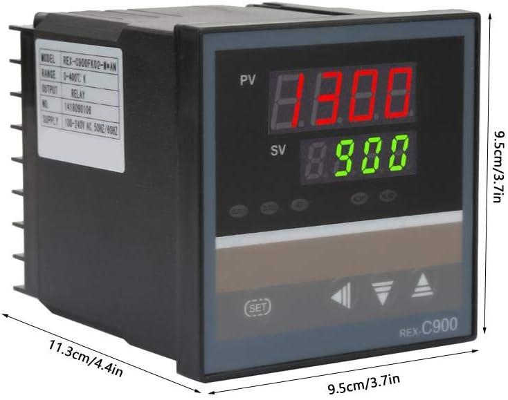 ANYEFY REX-C900 Rel/é de Salida Digital Inteligente regulador de Temperatura AC100 240 V Rango Completo libremente Ajustable /áreas de Alarma
