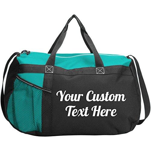 Custom Script Text Gym Workout Bag: Gym Duffel Bag -