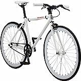 Pure Fix Original Fixed Gear Single Speed Bicycle, Romeo White, 54cm/Medium