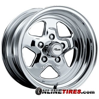 Pacer Dragstar 15×7 Polished Wheel / Rim 5×4.75 with a 0mm Offset and a 83.00 Hub Bore. Partnumber 521P-5761