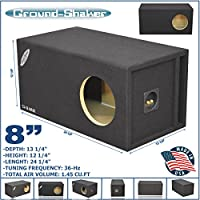 8 PORTED EXTRA LARGE SUBWOOFER ENCLOSURE BASS BOX SPEAKER BOX 36 Hz