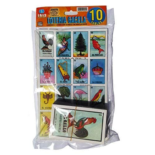 Loteria Mexicana Family Set of 10 Boards and Cards (Loteria Mexican Bingo)