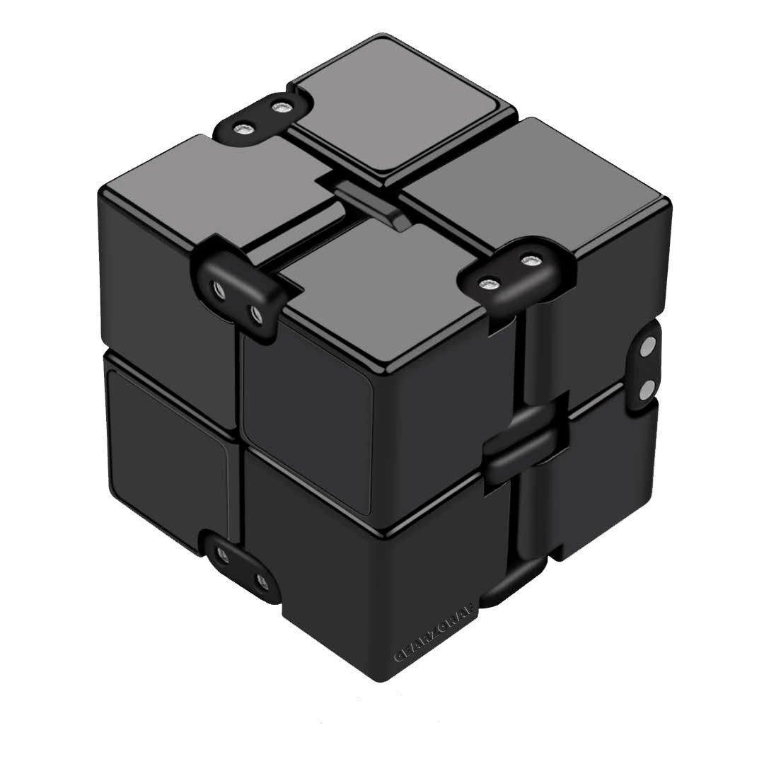 Cube Infini - En plastique ABS de couleur noir - De bonne qualité maniable et résistant - Jouet - Anti Stress - Décoration - Marque Française \