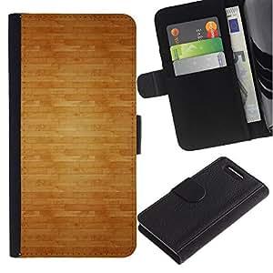 UberTech / Sony Xperia Z1 Compact D5503 / Wood Pattern Floor Texture Brown / Cuero PU Delgado caso Billetera cubierta Shell Armor Funda Case Cover Wallet Credit Card