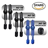 Airror Elastic No Tie Shoelaces for Kids and Adults, [3 Pair] Best Lock Shoelaces for Running and Walking Shoes, Ideal for Runners and Sneakers.Fit Most Shoes (Blue/Black/Black)