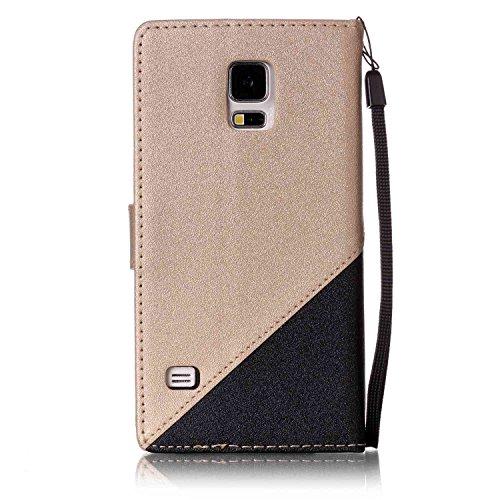 [Flip Case Cover] para Galaxy S5 /S5 Neo Carcasa Sunroyal® Samsung S5 /S5 NeoFunda Ultra Slim PU Leather Cuero Cobertura Bookstyle Wallet Cubierta Con [Función de Soporte] [Cierre Magnético] [Billeter A-10