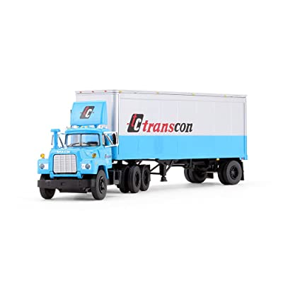 First Gear 1/64 Scale Diecast Collectible TC Transcon Mack R with 28' Pup Trailer (#60-0341): Toys & Games