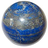 Cheap SatinCrystals Lapis Ball Collectible Royal Blue Afghan Sphere Lazuli & Gold Pyrite Stone, Exact One C05 (2.5″- Gold Deluxe)