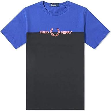 Fred Perry Authentic Split Logo tee Rich Blue: Amazon.es: Ropa y accesorios