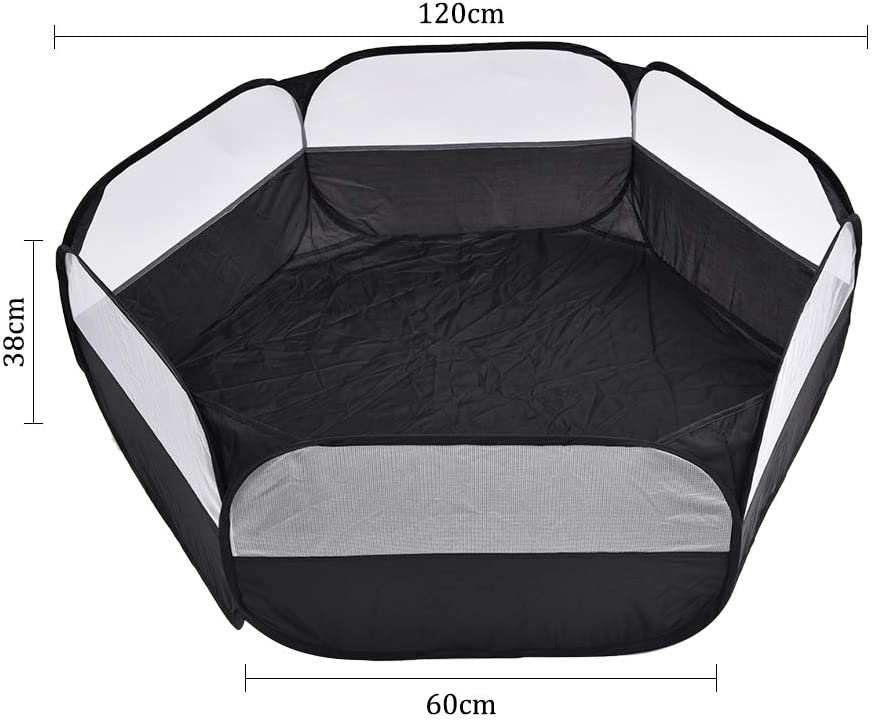 Hamster Chinchillas Hedgehogs Removable Carrying Pet Tent Foldable Pet Playpen Portable Yard Fence for Guinea Pig Transparent Breathable Puppy Dog Cat Playpen Rabbits Small Pet Cage Tent