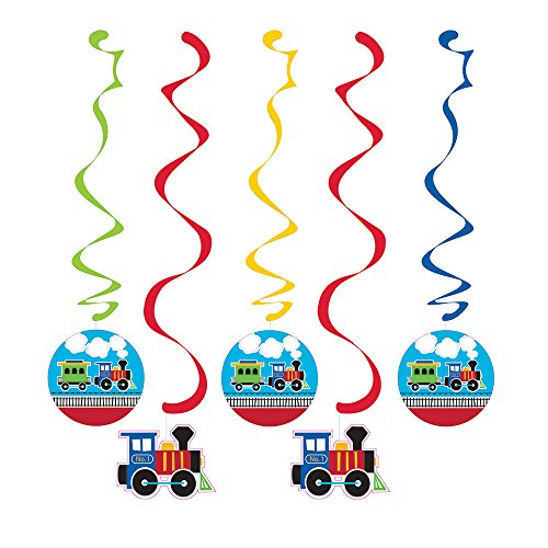 Dangling Cut Out Decorations (Train Dangling Party Decorations (5 ct))