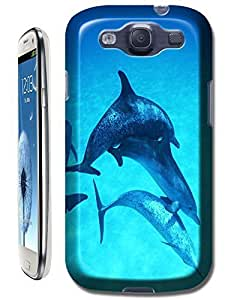 Group dolphins swimming under the besutiful sea cell phone cases for Samsung Galaxy S3
