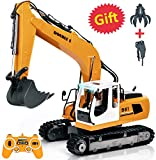 DOUBLE E RC Excavator 17 Channel Three-in-One Remote Control Tractor Toy Construction Vehicles