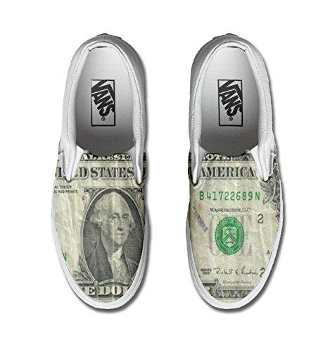 Vans Originali e personalizzate Unisex (Prodotto Artigianale) Dollar