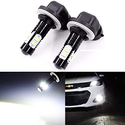Extremely Bright Max 50W High Power 881 LED Fog Light Bulbs for DRL or Fog Lights, Xenon White: Automotive