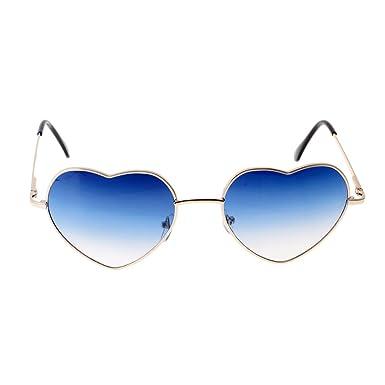 Sharplace Lunettes de Soleil Cadre Coeur Forme Mignon à 2 Couleurs pour  Femme Fille - Bleu b68d6da5a810