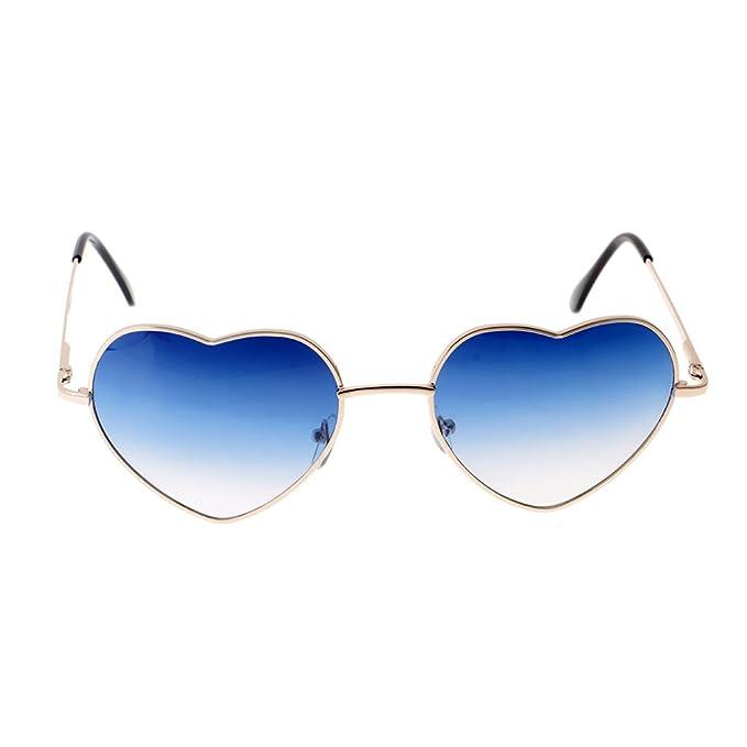 MagiDeal Alla Moda Donna Uomo Forma Cuore Occhiali da Sole Regolabile Naso Pads Regalo Donna - Blu Chiaro, 15cm