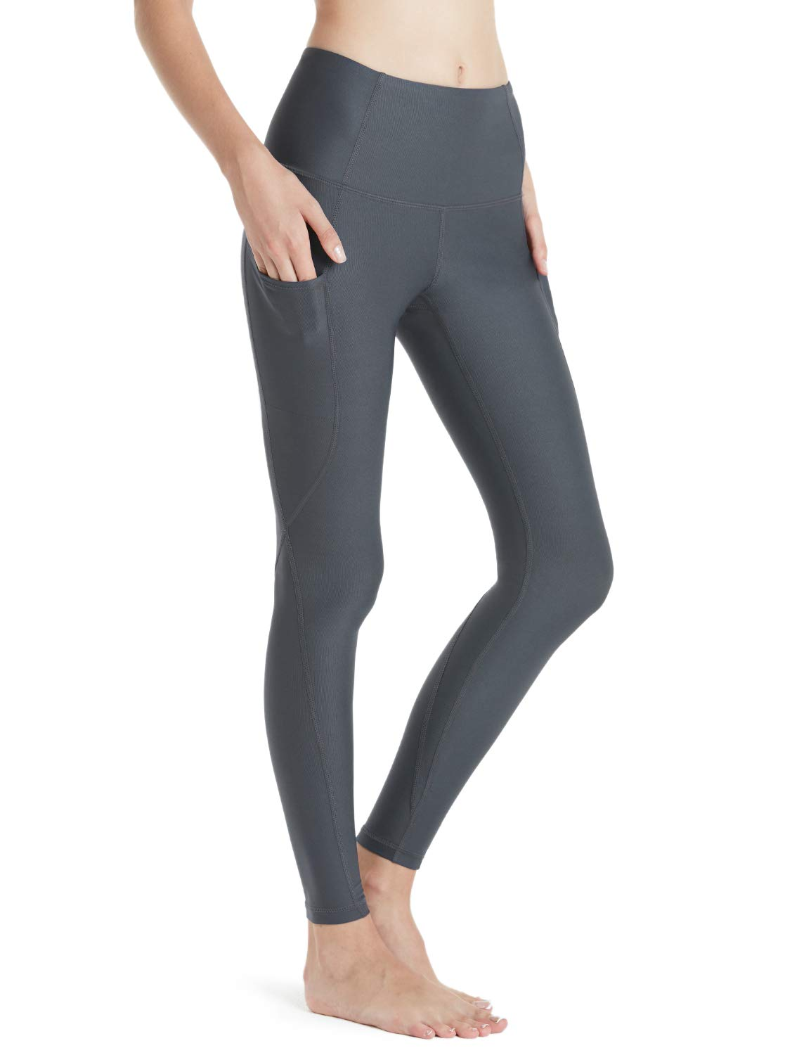 8b1bbc3005 Tesla TM-FYP54-DGY_Medium Yoga Pants High-Waist Leggings w Side Pockets  FYP54: Amazon.in: Sports, Fitness & Outdoors