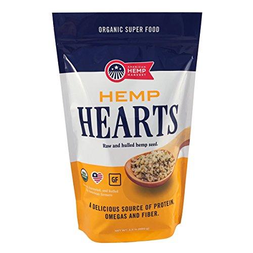 American Hemp Harvest USDA Organic Hemp Hearts (Raw Shelled Hemp Seeds) - grown in USA (1.5 lbs) Gluten Free
