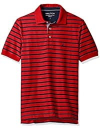 Nautica Men's Classic Fit Short Sleeve Striped Polo...