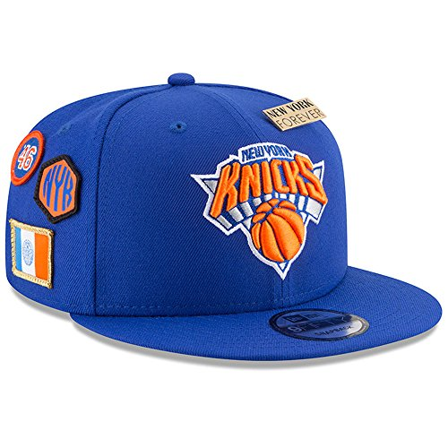 New Era New York Knicks 2018 NBA Draft Cap 9FIFTY Snapback Adjustable Hat- Blue