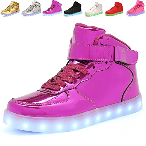 Girls Light Up Shoes (ANLUKE 11 Colors LED Sneakers Light Up Flashing Shoes as gift for Boys Girls Men and Women Purple 37)