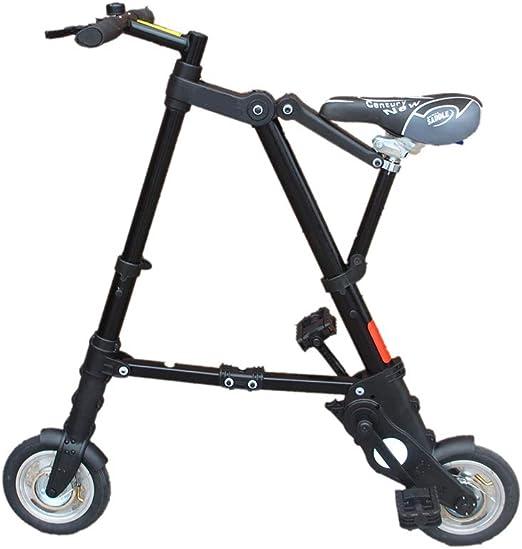 DT Bicicleta Plegable Plegable Ultraligera de 8 Pulgadas Mini ...