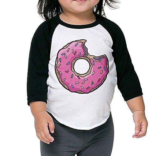 VXUeiq Children Kids Pink Sweet Donut Doughnut Toddler Raglan T Shirts Baseball 3/4 Sleeves Jersey Shirt Baby Tee 5-6 (Moon Baseball Jersey)