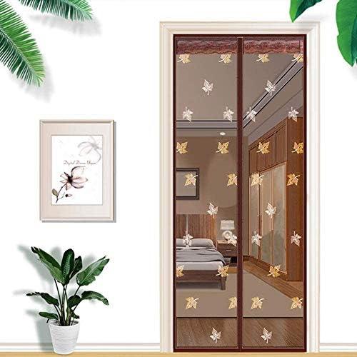 蚊帳 カーテン自動防蚊ドアカーテン、磁気スクリーンドア、設置が簡単、虫除け蚊ドア、外気導入,A,80*200cm,A,100*200cm