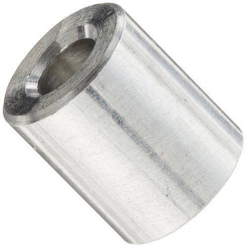 Aluminum 5//8 Length Round Spacer 1//4 OD Pack of 25 Plain Finish #6 Screw Size Made in US 0.14 ID