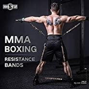 INNSTAR MMA Boxing Training Resistance Belt Band Set Power Punch Pro Strength Training Equipment for Muay Thai