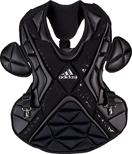 Adidas Chest Protector - adidas S99092 PRO Series Baseball Catcher's Chest Protector Gen 2 Protective Gear, Black, Size 17