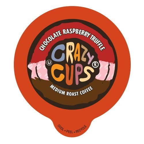 (Crazy Cups Flavored Coffee, for the Keurig K Cups Coffee 2.0 Brewers, Chocolate Raspberry Truffle, 22 Count)