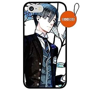 Black Butler Sebastian Anime iPhone 5 / 5s Case & Cover Design Fashion Trend Cool Case Back Cover Silicone 238