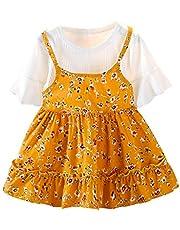 Greenwind Mono infantilNiño pequeño Bebé Niños Niñas Floral Patchwork Fruncido Vestido de Princesa Ropa Casual