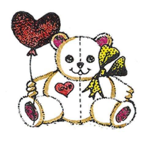 Center Enterprise F812'Teddy with Heart Balloon' Stamp