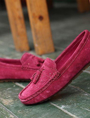 grigio 5 di mujer mocasines rosa gyht Scarpe comfort plano eu38 uk5 Bordeaux casual us7 cn38 tacón Lavoro Grigio oficina 5 ante ZQ AqwZpx4fFq