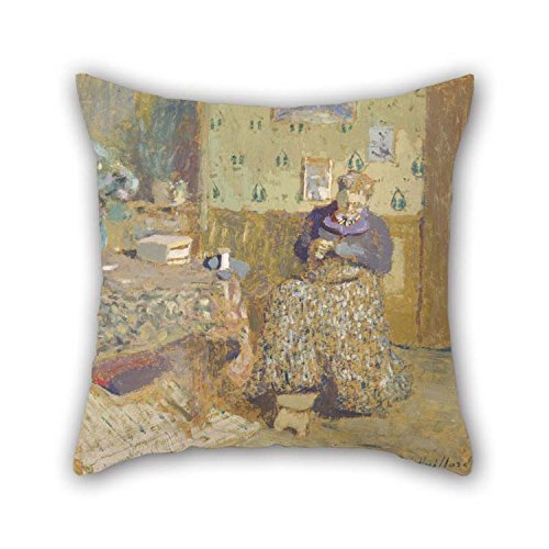 Wonderland Roll Room Winter (Oil Painting ?douard Vuillard - Madame Vuillard Sewing Throw Cushion Covers 18 X 18 Inches / 45 By 45 Cm For Bedding Seat Bedroom Gril Friend Gf Dance Room With Two Sides)