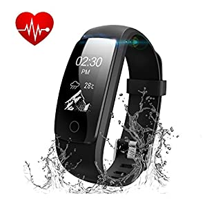 Runme Fitness Tracker Watch with Heart Rate Monitor, IP67 ...