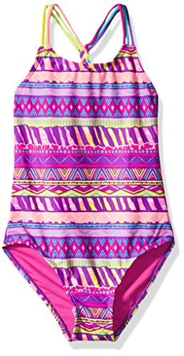 Breaking Waves Little Girls' Charmazing One Piece Swimsuit, Multi, 5