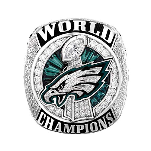 - Jacoci Custom 2017-2018 Philadelphia Eagles Super Bowl World Championship Rings for Fans with Box Size 10