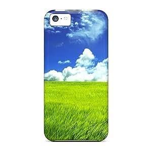 Bernardrmop Iphone 5c Hybrid Tpu Case Cover Silicon Bumper Green Grassland