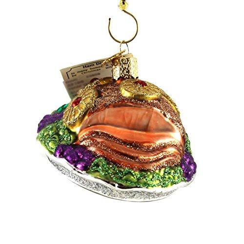 Old World Christmas Ham Dinner Glass Blown Ornament (Best Ham Christmas Dinner)