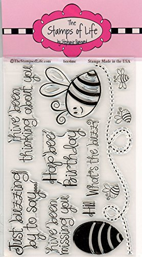 Honey-Bee Sentiment Clear Rubber Stamps for Scrapbooking and Card-Making by The Stamps of Life - Bee4Me